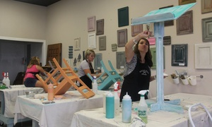 Rescued Relics Studio: Up to 51% Off Furniture Painting Class at Rescued Relics Studio