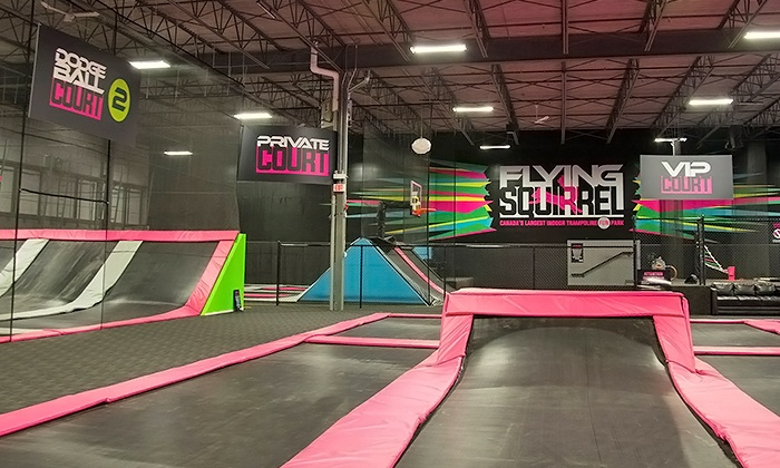 Two Hours of Trampoline Jumping, Private Court Rental, or Super Fly VIP Party at Flying Squirrel (Up to 25% Off)