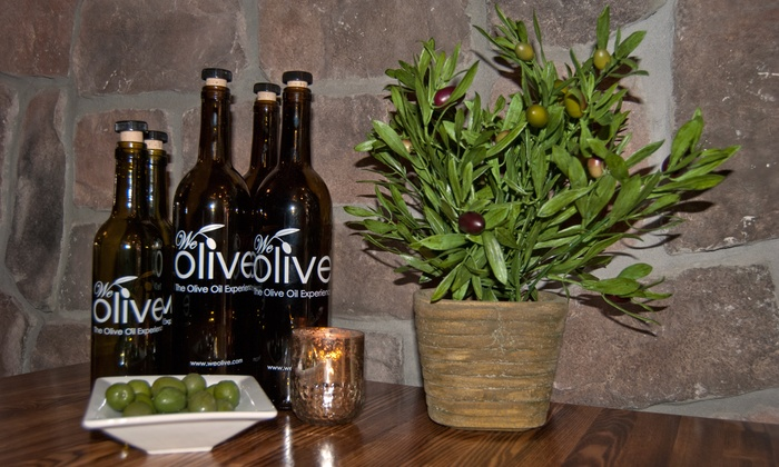 We Olive & Wine Bar Brooklyn - Boerum Hill: Wine and Olive Oil Tasting for One, Two, or Four at We Olive & Wine Bar Brooklyn (Up to 51% Off)