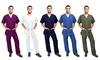 Green Town Men's Scrubs Set (2-Piece) : Green Town Men's Scrubs Set (2-Piece)