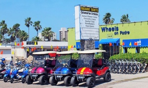Wheels on Padre: One-Hour Golf-Cart Rental for Up to Four, Three-Hour Kayak Rental for Two, or Both from Wheels on Padre (Up to 38% Off)