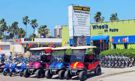 One-Hour Golf-Cart Rental for Up to Four, Three-Hour Kayak Rental for Two, or Both from Wheels on Padre (Up to 38% Off)