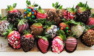 Sweet Things Candy & Gifts: Chocolate Covered Strawberries or Caramels Gift Box or Two $10 Groupons for Candy at Sweet Things Candy & Gifts