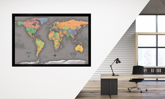 Usa or world magnetic pin travel map with bonus 20 pins groupon usa or world magnetic pin travel map with bonus 20 pins gumiabroncs Image collections
