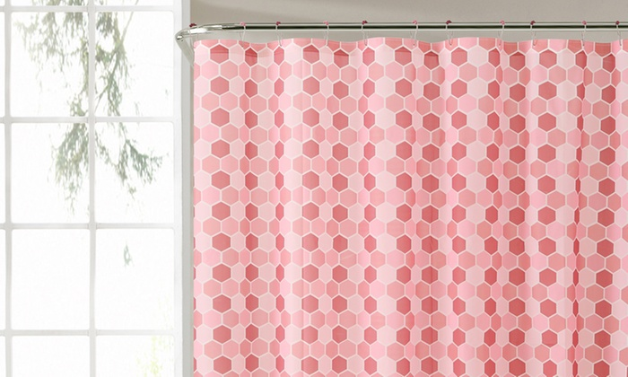 Honeycomb 72 X Peva Shower Curtain