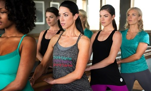 Pure Barre Weston: 5 or 10 Barre Fitness Classes or Month of Unlimited Barre Fitness Classes at Pure Barre (Up to 62%Off)