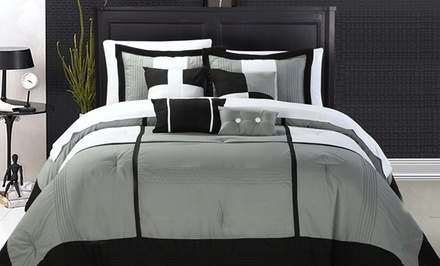 Dorchester Overfilled and Oversized 8-Piece Comforter Set