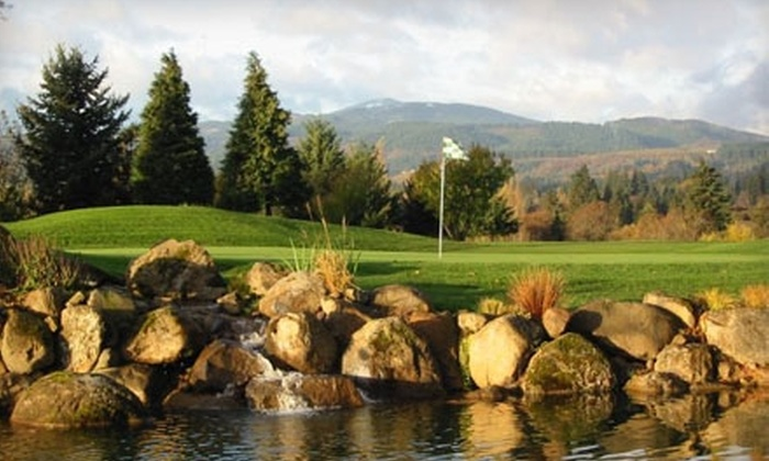 Indian Creek Golf Course - Hood River: $60 for 18 Holes of Golf for Two with Cart Rental at Indian Creek Golf Course in Hood River (Up to $128 Value)