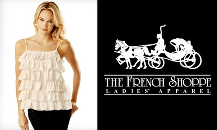 The French Shoppe - Nashville-Davidson metropolitan government (balance): $20 for $50 Worth of Women's Apparel at The French Shoppe. Choose One of Three Locations.