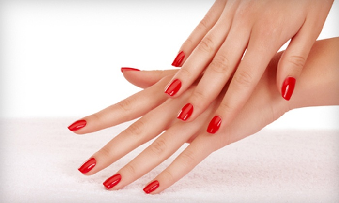 Luxe Salon and Spa  - Pearland: Shellac Manicure or Luxe Mani-Pedi at Luxe Salon and Spa in Pearland (Up to 51% Off)
