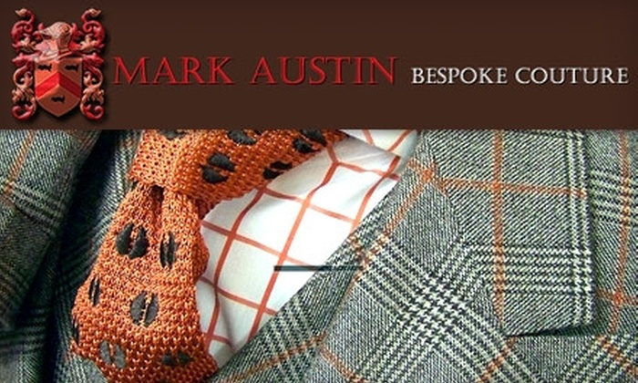 Mark Austin Bespoke Couture: $99 for One Custom-Made Tie from Mark Austin Bespoke Couture (Up to $295 Value)