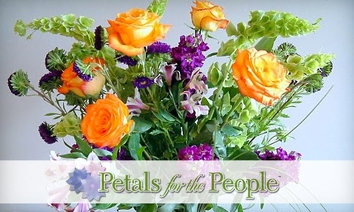 Petals for the People - Multiple Locations: $12 for a Flower Bundle and Online Arrangement Instruction from Petals For The People ($25 Value)
