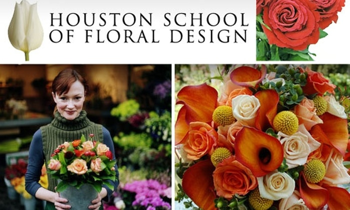 Houston School of Floral Design  - Houston: $18 for Floral-Arranging Class and a Dozen Roses at Houston School of Floral Design ($30 Value)