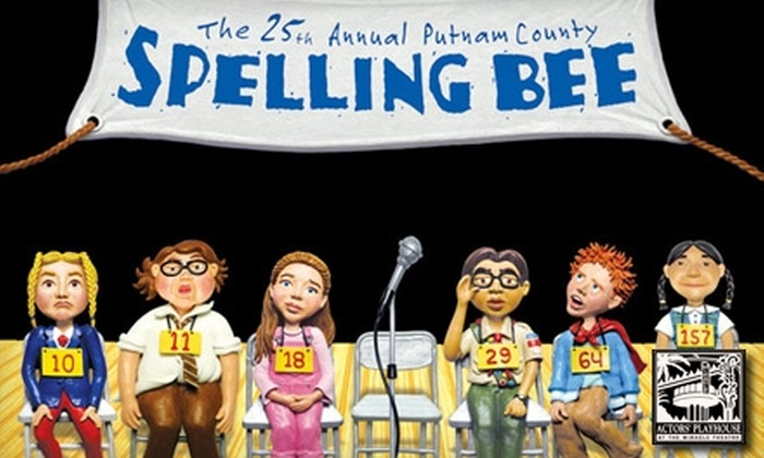 "Actor's Playhouse - Crafts: One Ticket to the Musical Comedy ""The 25th Annual Putnam County Spelling Bee"" at Actors' Playhouse. Choose from Four Dates."