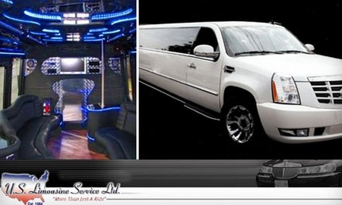 U.S. Limousine Service - Long Island: $50 for $100 Worth of Limo Transportation from U.S. Limousine Service