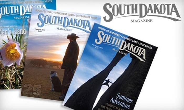 "<i>South Dakota Magazine</i> - Sioux Falls: $10 for a One-Year Subscription to ""South Dakota Magazine"" ($19 Value)"