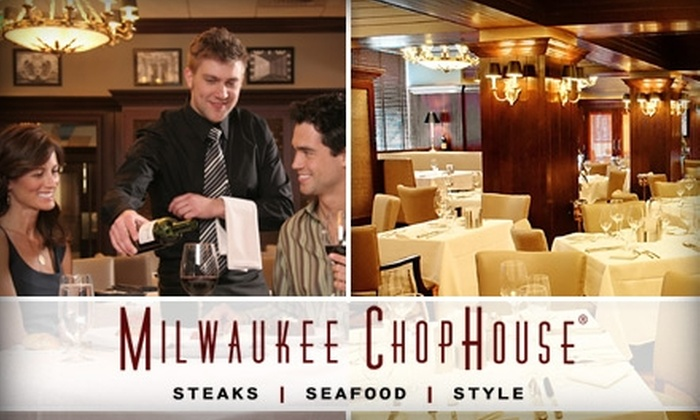 Milwaukee ChopHouse - Kilbourn Town: $20 for $50 Worth of Steaks, Seafood, and Drinks at Milwaukee ChopHouse