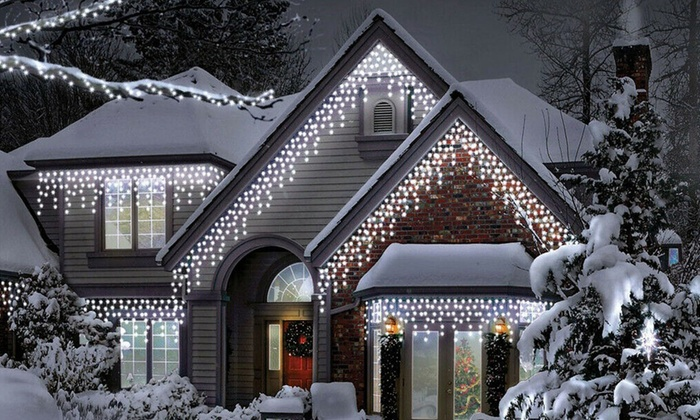 Sentik 240-, 480- or 720-Bulb Snowing-Effect Icicle LED Lights