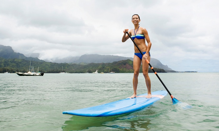 Whitlock Surf Experience - Townsite: Surfing or Paddleboarding Lesson with Gear for One, Two, or Four from Whitlock Surf Experience (Up to 54% Off)
