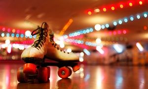 Admission and Skate Rental for Two or Four, Plus Pizza at Looneys Super Skate Center (Up to 59% Off)