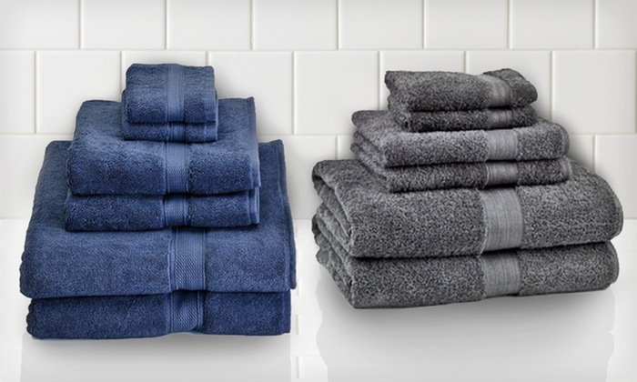 Six-Piece Egyptian-Cotton Towel Set: $35 for a Six-Piece Egyptian-Cotton Towel Set ($69.99 List Price). Seven Colours Available. Free Returns.