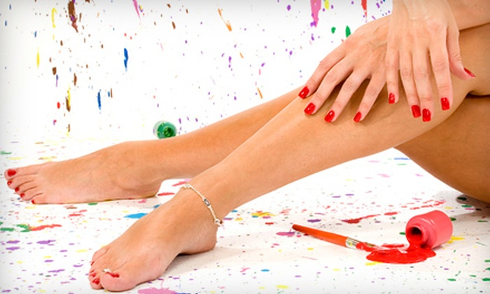 LeVant Salon and Day Spa - Wheaton: Manicure and Deluxe Pedicure for One or Two at LeVant Salon and Day Spa in Wheaton (56% Off)