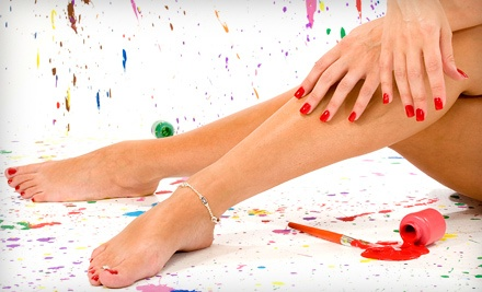 Manicure and Deluxe Pedicure for 1 Person (a $70 value) - LeVant Salon and Day Spa in Wheaton