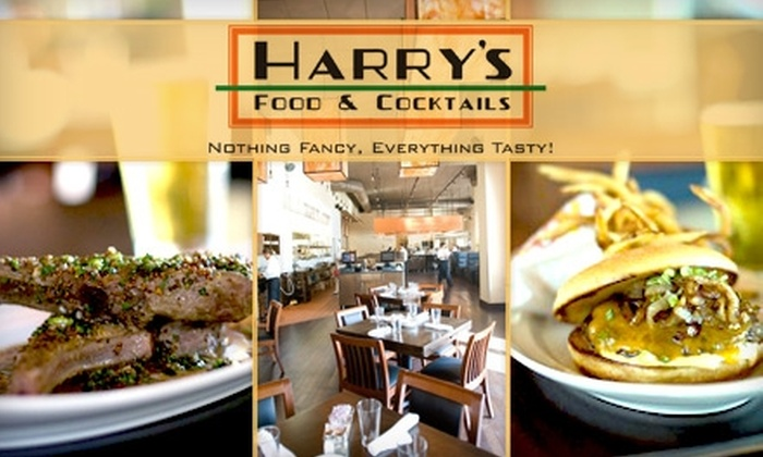 Harry's Food and Cocktails - Downtown West: $15 for $30 Worth of Delectable Fare and Drinks at Harry's Food and Cocktails