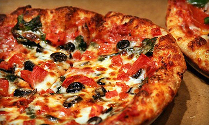 Uncle Maddio's Pizza Joint - Downtown Cumberland: Two 9-Inch Pizzas with Two Drinks or Two 12-Inch Pizzas with Four Drinks at Uncle Maddio's Pizza Joint (Up to 58% Off)