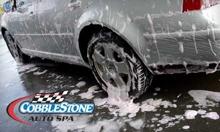 """Cobblestone Auto Spa - Multiple Locations: $18 for Three """"Supreme"""" Washes at Cobblestone Auto Spa ($48 Value)"""