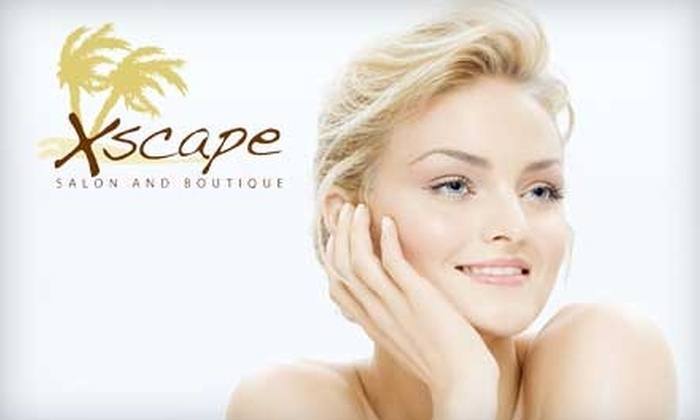 Xscape Salon and Boutique - South San Lauren: $30 for Mani-Pedi or $60 Worth of Waxing or Facial Services at Xscape Salon and Boutique