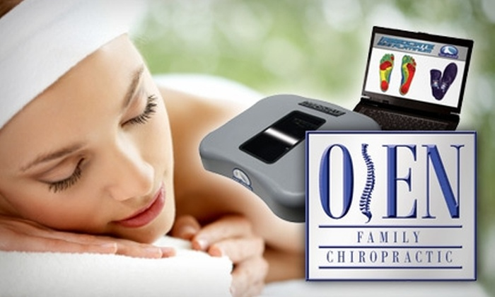 Oien Family Chiropractic - Sioux Falls: $30 for a Chiropractic Consultation, Custom Orthotics Scan, and One-Hour Massage at Oien Family Chiropractic ($145 Value)