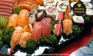 Imperador Sushi: Imperador Sushi – São Bernardo: rodízio japonês especial à vontade + sobremesa para 1 ou 2 pessoas