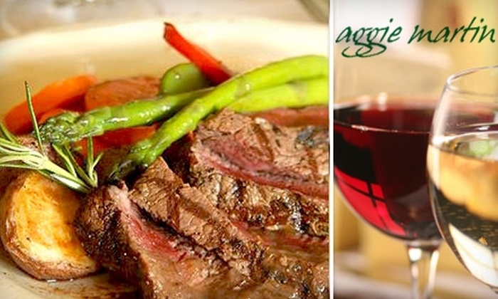 Aggie Martin - Downtown Brampton: $25 for $50 Worth of French Cuisine and Drinks at Aggie Martin