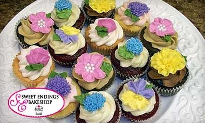 Sweet Endings Bakeshop - De Witt: $9 for a Dozen Standard-Size Cupcakes at Sweet Endings Bakeshop ($18 Value)