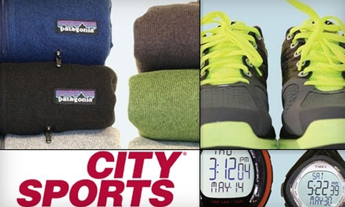 City Sports - College Hill: $20 for $40 Worth of Sports Apparel, Footwear, and Equipment at City Sports