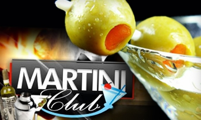 Martini Club - Belmont Central: $20 for $40 Worth of Martinis and Elegant Fare at Martini Club Restaurant