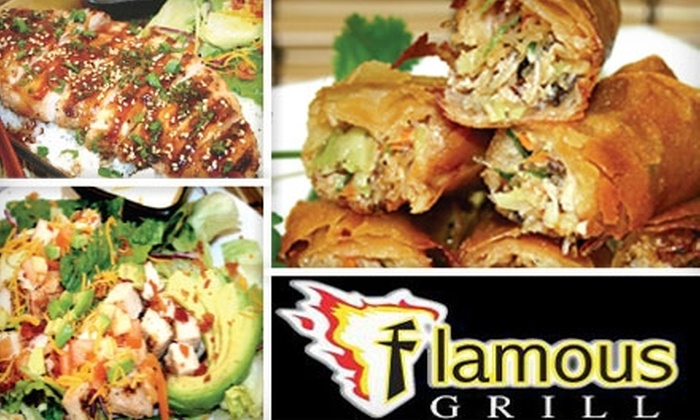 Flamous Grill - Clovis: $5 for $10 Worth of Barbecue and Asian Fare from Flamous Grill