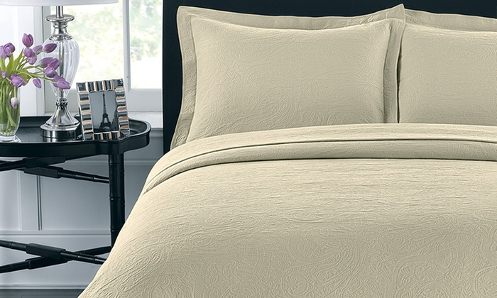 Luxury Cotton Coverlets and Pillow Shams from $29 99–$99 99
