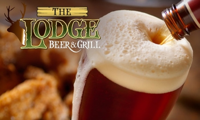 The Lodge Beer & Grill - Boca Raton: $15 for $30 Worth of Fresh Pub Fare and Craft Beer at The Lodge Beer & Grill