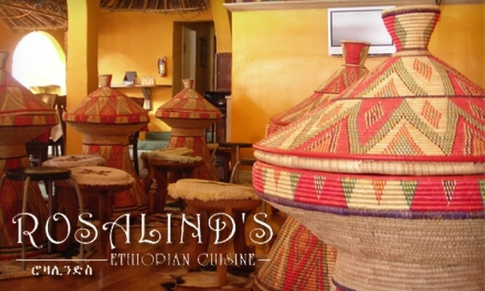 Rosalind's Ethiopian Restaurant - Mid-Wilshire: $14 for $30 Worth of Ethiopian Cuisine and Drinks at Rosalind's Ethiopian Restaurant