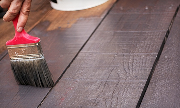 Suddenly Color Painting Company - Richmond: Deck Staining on a Small, Medium or Large Deck from Suddenly Color Painting Company (Up to 56% Off)