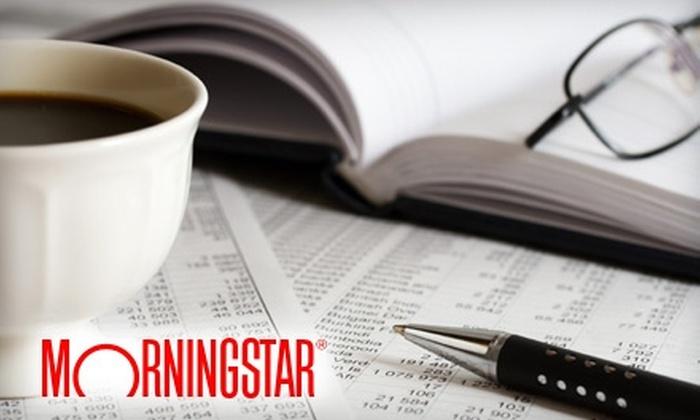 Morningstar.com: $30 for a Three-Month Premium Membership to Morningstar.com ($62.85 Value)