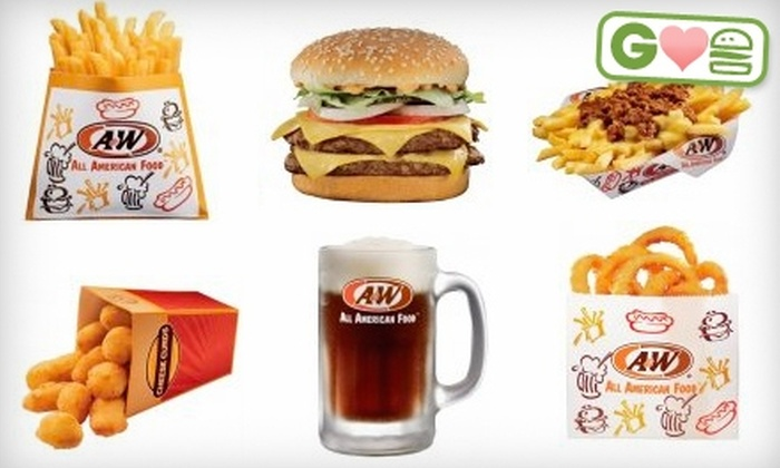 A&W of Smithfield  - Greenville: $8 for Two Burger Combos at A&W of Smithfield in Greenville (Up to $15.98 Value)