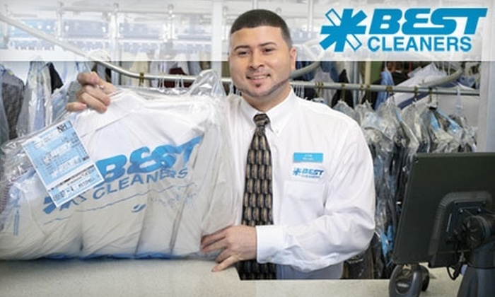 Best Cleaners - Multiple Locations: $10 for $25 Worth of Eco-Friendly Dry Cleaning at Best Cleaners