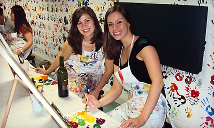 Dip 'n Dab - Lindridge - Martin Manor: $12 for a Two-Hour BYOB Painting Class at Dip 'n Dab ($25 Value)