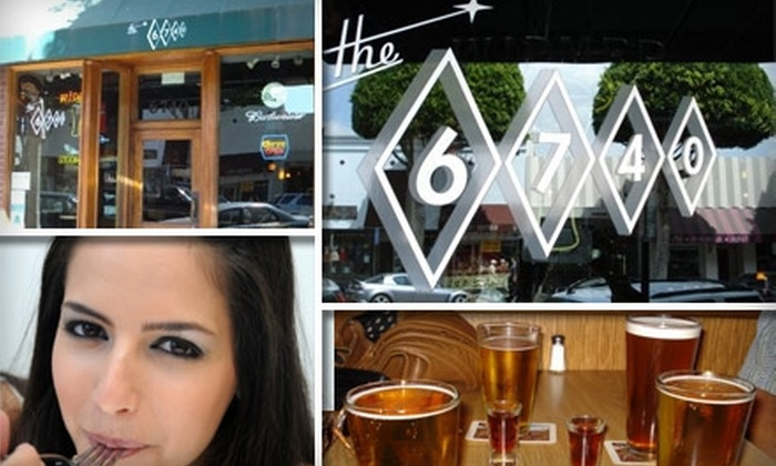 The 6740 - Los Angeles: $15 for $30 Worth of Made-from-Scratch Pub Food and Libations at The 6740