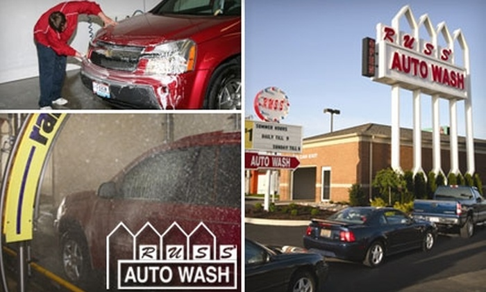 Russ' Auto Wash - Multiple Locations: $9 for Three Express Car Washes at Russ' Auto Wash