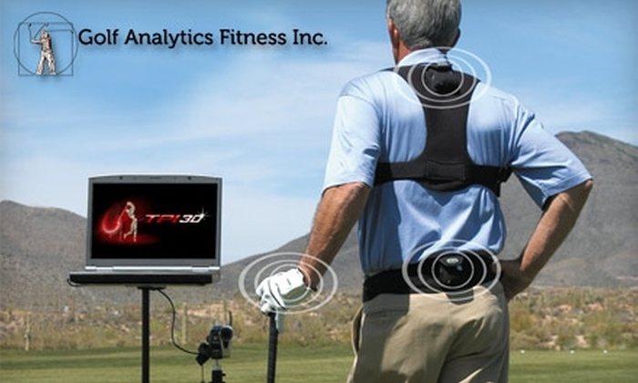 Golf Analytics Fitness - Atlantic Highlands: $25 for 18 Holes of Golf for Two Using the P3ProSwing Simulator ($100 Value) or $75 for a K-Vest Golf-Swing Analysis ($250 Value) at Golf Analytics Fitness