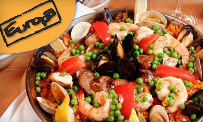 Europa Italian Cafe & Tapas Bar - Shockoe Slip: $15 for $30 Worth of Italian Cuisine at Europa Italian Cafe & Tapas Bar